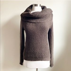 Anthro Angel of the North Waffle Cowlneck Sweater